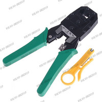 Wholesale LLFA705 Portable RJ45 RJ11 RJ12 Wire Cable Crimper Crimp Cutting Stripper PC Network Hand Tool Pliers and Cable