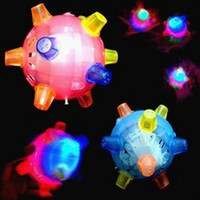 Wholesale led flashing dancing ball with music for christmas plastic rubber Colorful polygonal rolling concert bouncing toys