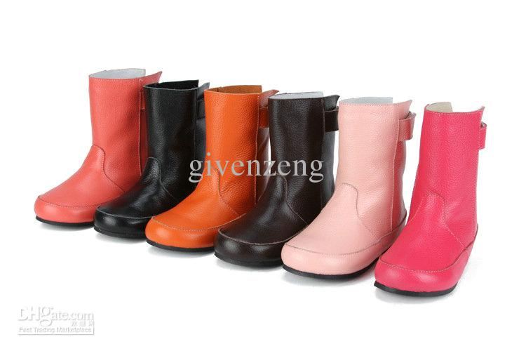 Girl's Princess Winter Multi Color Warm Leather Snow Boots/Shoes ...