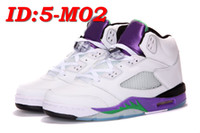 Wholesale 2013 Newest Classical Mens White Purple Basketball shoes Retro Basketball shoes Running Shoes size