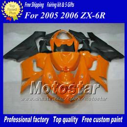 Injection mold fairing kit FOR Kawasaki Ninja ZX6R 636 05 06 ZX-6R 2005 2006 ZX 6R orange black