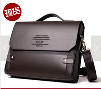 Wholesale cross section of business briefcase men s single shoulder bag coffee color A