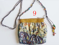 Wholesale Cheap Handbags Lady Cross Body Chiffon Beach Bag Bohemia Boho color EMS Low Price B17