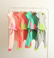 Wholesale NEW summer children kid wear clothing piece sets boys girls long sleeve tracksuits sports suit cotton top quality set