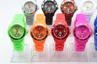 Wholesale Hot fashion silicone watch jelly rubber candy kids children boys watches unisex MM watch