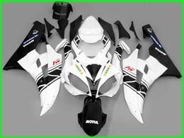 Black white Fairing for 2006 2007 YZF R6 YZFR6 06 07 YZFR 600 YZF-R6 yamaha fairings kit bodywork