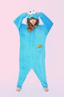 Wholesale Sesame StAdult Unisex Onesie Hoodie cotton Short sleeve Cosplay Pajamas reet Elmo cookie monster Costume Adult romper pajamas costume onesie
