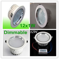 Wholesale 50pcs Fedex Low price Led Down light Dimmable W Led Downlight Discount Chandelier Epistar Chips Led Driver