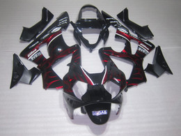 High quality Red Flame Fairings kit for Honda CBR900RR 929 CBR CBR929RR CBR929 2000 2001 00 01 motorcycle fairing kits