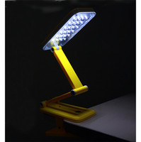 / Yes DC 4 Colors Foldable Folding Touch Controlled Table Night Reading Light 24 LED Desk Lamp Convenience For Your Life