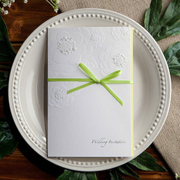 Wholesale WHITE GREEN WEDDING INVITATION CARDS WEDDING FAVORS W1116