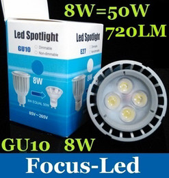 Wholesale 100000 Hours Life Best For Room W GU10 Led Spotlight Bulb Lamp Lumens Warm Pure Cool White Led Downlight V CE ROHS SAA