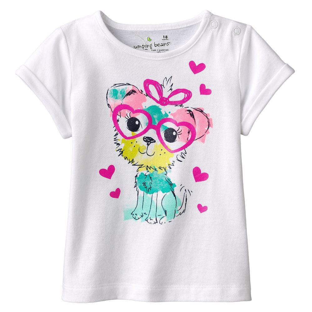 Toddler Girl Fashion Print Shirts
