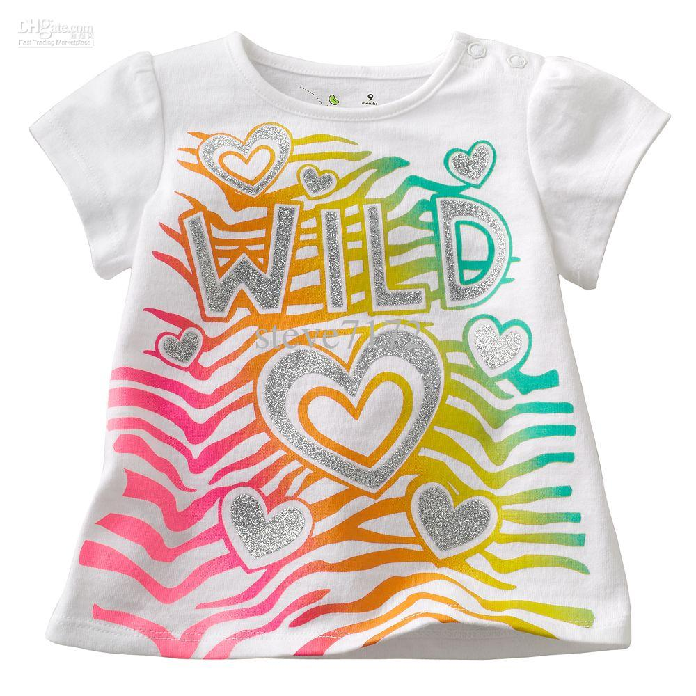 2017 Girls T Shirts Boys Tees Shirts Baby Tshirt Short Sleeve Cotton Girls Clothes Jumpers Kids ...
