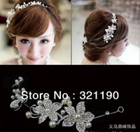 Wholesale New Wedding tiara headwear of bride headdress rhinestone amp pearl elegant hair Charming accessory jewelry