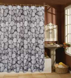 Wholesale Spring Stone Bubble Shower curtain X180cm Polyester