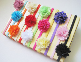 Wholesale - Toddler Baby GirlsWholesale - Toddler Baby Girls Flower Headbands Elastic Chiffon Children Hairband Infant Hair Accessories