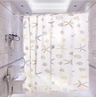 Wholesale Starfish shower curtain Scrub waterproof peva shower curtain special low thin section