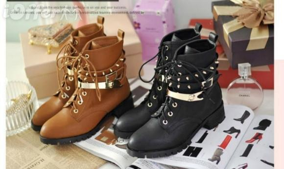 Gold Studded Boots Gold Plated Studded Boots
