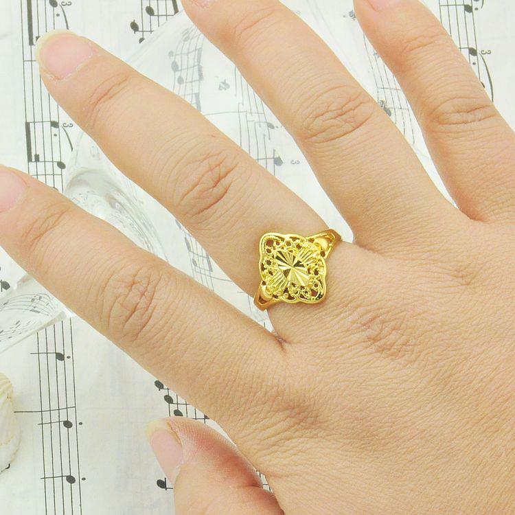 Beautiful Bride High Imitation Gold Plated Wedding Rings Women