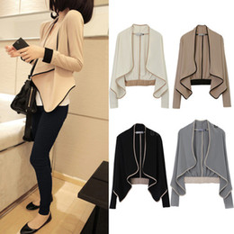 Wholesale Fashion Ladies Asymmetric Cardigan Long Sleeve Womens Casual Jacket Tops Sweater
