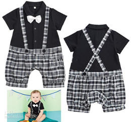Wholesale 2013 hot boys gentleman rompers infant short sleeve Jumpsuits baby summer clothes popular Jumpsuits
