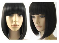 Wholesale Stylish Short Human Made Straight Hair wig wigs