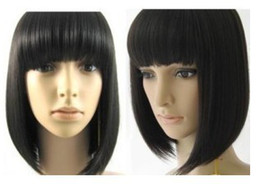 Wholesale cheap Stylish Short Human Made Straight Hair wig wigs