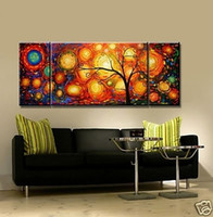 More Panel Oil Painting Fashion Modern Abstract Wall Decorate Art Oil Painting(No Frames)Size is: 12X24=2P,24X28=1P inch