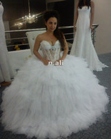 Reference Images balls spanish - Sexy Sweetheart Transparent Corset Sparkly Beaded Crystal Spanish Ball Gown Wedding Dresses Dress