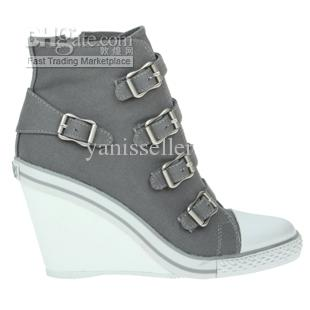 Ash Thelma Bis Wedge Sneakers High Heeled Shoes Fashion Casual