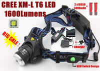 Wholesale A88 CREE XM L XML T6 LED Lumens Zoomable Rechargeable LED Headlight Headlamp CREE x18650 Battery Charger