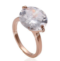 Party austrian cakes - 2013new Sell like hot cakes K gold ring Fashion Austrian crystal rose gold diamond ring R134