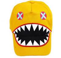 Wholesale crocodile baseball cap Mouth children baseball cap cap hat Korean factory direct sun hat