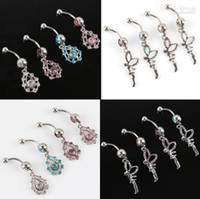 Wholesale Cheap Dangling Belly Button Rings Fairy Body Piercing Jewelry Navel Rings14G BJ0