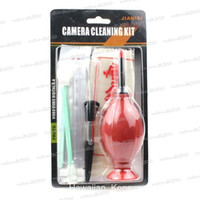 Wholesale Camera Cleaning Kit Lens Camera LCD Cleaning Kit IN Air Blower Brush Senior Shammy CCD Swabs Wand