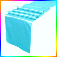 aqua table runners - 10 Aqua Blue Satin Table Runners Wedding Cloth Runners Holiday Favor Party Hot Sale table runnrs for wedding party