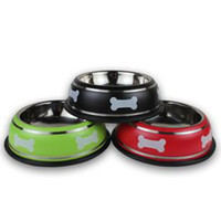 Wholesale Durable Stainless Steel Bowl Dishes Food Pet Feeder