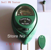 Wholesale 3 in1 Plant Flowers Soil PH Tester Moisture Light Meter hydroponics Analyzer