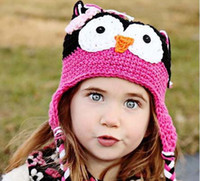 winter animal hat - Kids Knitted Winter Caps Wool Cap Knitted Beanie Hat Children s Autumn And Winter Caps Toddler Cute Cartoon Animal Hats Baby Crochet Hats