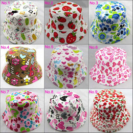 Wholesale Children Beanie Hat Caps Child Sun Hat Bucket Hat Baby Sunbonnet Kids Topee Boys And Girls Cute Printed Basin Cap Fashion Casual Canvas Hats