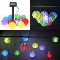 3quot Lots100 gros; Christmas set 10LED Solar Power Lantern multicolore Fée Lumière Parti cordes jardin extérieur
