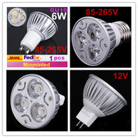 Wholesale AC85 V GU10 E27 MR16 V Warm Cold White LED W Dimmable Spot Bulbs Light Lamp Lm Degrees sample only Free for VIP
