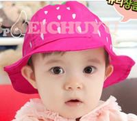 Boy Summer Visor Baby Strawberry Modelling Basin Cap Boys And Girls Cute White Dots Bucket Hat Fashion Multicolour Casual Canvas Hats Sun Hat Children Caps