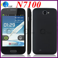 Wholesale A7100 N7100 Note android cell phone Android Real OS SC6820 GHz Quad Band Dual Sim WIFI Bluetooth inch MINI S4 smartphone