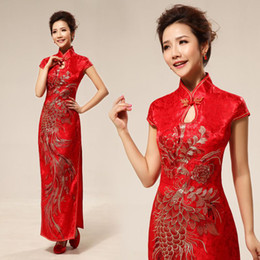 Wholesale New wedding dress sexy Chinese cheongsam fashion improved cheongsam cheongsam red bride vintage wedding
