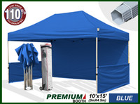 Wholesale Premium x15 Pop Up Tent Craft Display Trade Show Canopy Portable Booth Market Stall blue