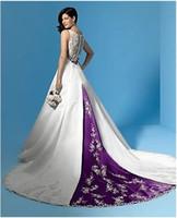 purple wedding dress - Sexy Glamorous A Line Stunning White Purple Wedding dress Evening Dress Prom Ball Gown