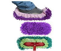 Wholesale chenille shoes cover slippers set mop wigs clean shoes cover