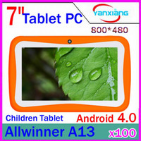 Wholesale DHL quot A13 Candy color Tablet for Kiddy PC Android Capacitive Dual Camera RW L07